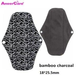 5 pcs Washable Sanitary Towel cloth menstrual pads reusable sanitary pad absorbent reusable charcoal cloth bamboo menstrual pads