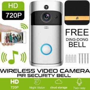 Smart Wireless WiFi Ring Doorbell Security Intercom Video Camera Door Bell